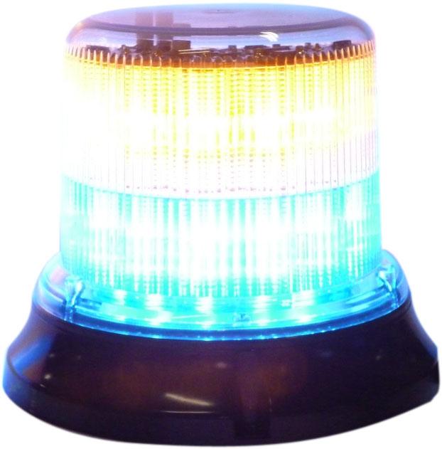 gyrophare leds 252881 base double tage bleu orange. Black Bedroom Furniture Sets. Home Design Ideas