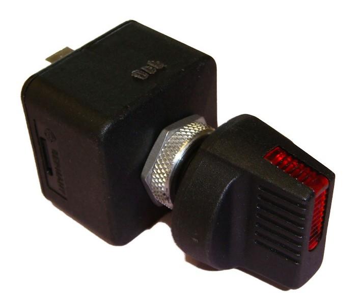 interrupteur rotatif dll027 avec voyants rouge. Black Bedroom Furniture Sets. Home Design Ideas