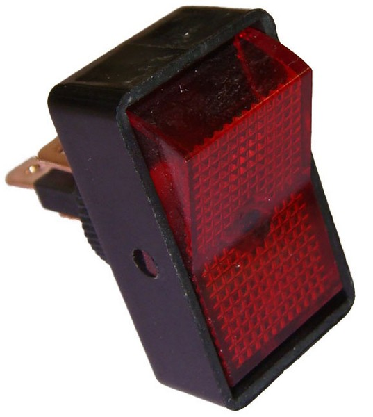 interrupteur bascule dll019 lumineux rouge. Black Bedroom Furniture Sets. Home Design Ideas