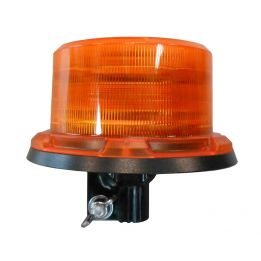 gyrophare led orange avec hampe