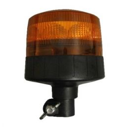 gyrophare led orange sur tige